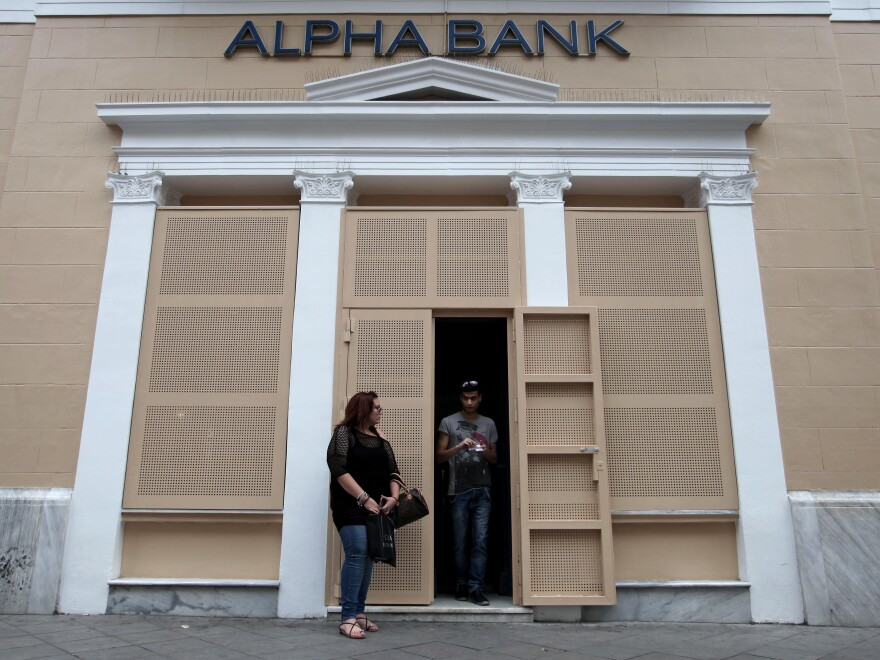 An Alpha Bank branch in Athens.