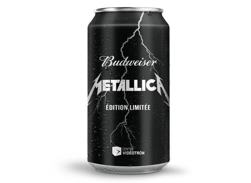 """A limited-edition run of """"Budweiser infused with Metallica"""" will be released in Quebec, Canada, on Sept. 28."""