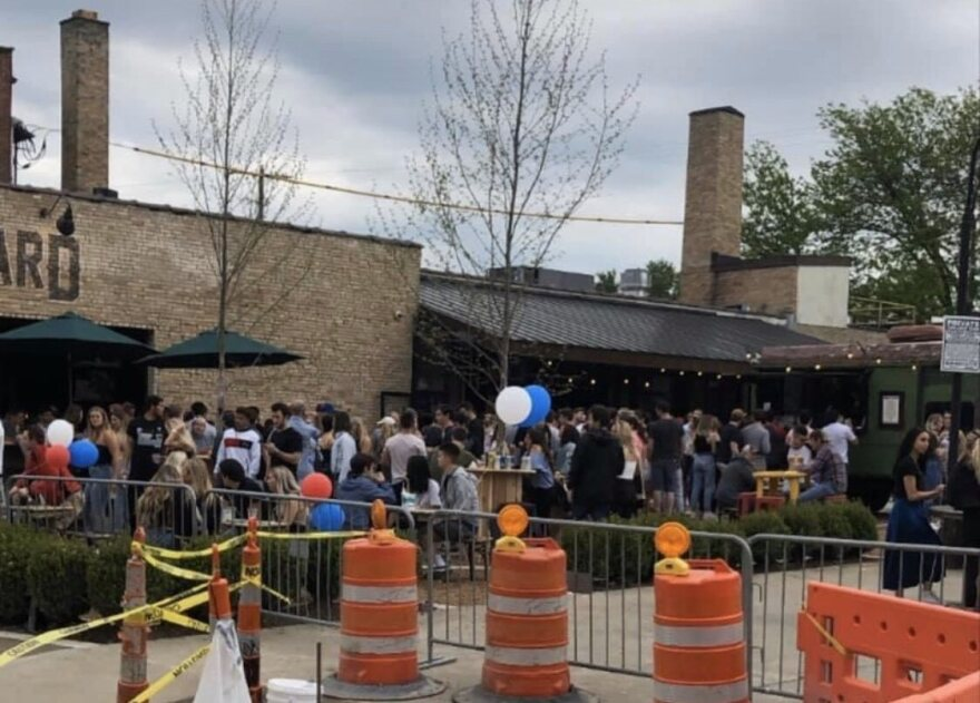 A tweet of the scene at Standard Hall in the Short North neighborhood of Columbus on Friday, as shared by @musicsaves41. Friday was the first night Ohio bars and restaurants could offer outdoor dining since they were shut down March 15.