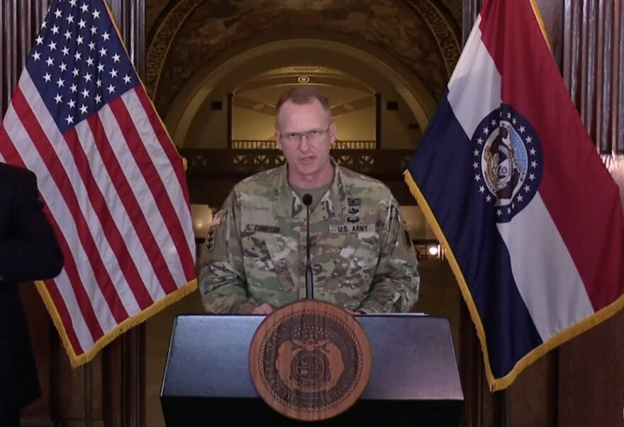 Brig. Gen. Levon Cumpton announced the state had chosen a hotel in Florissant as the first alternate care site for COVID-19 patients in Missouri. The state's National Guard has been assisting with finding and staffing potential overflow locations.
