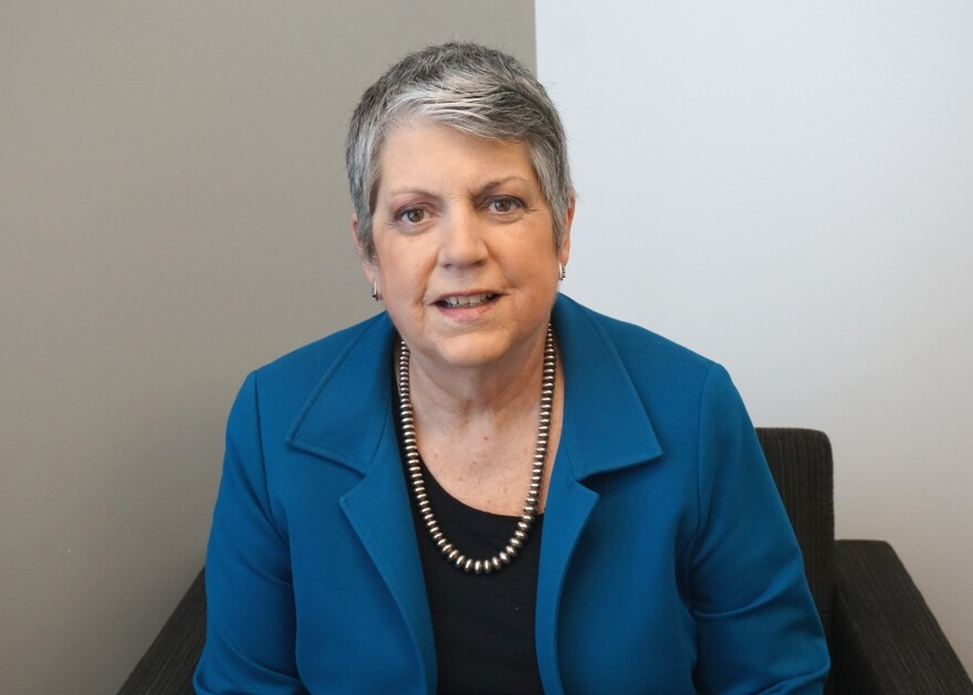 """(March 29, 2019) Former Secretary of Homeland Security Janet Napolitano discussed how American security policy has developed since 9/11 on Friday's """"St. Louis on the Air."""""""