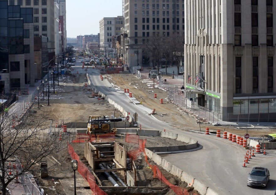 photo of Main Street construction in Akron