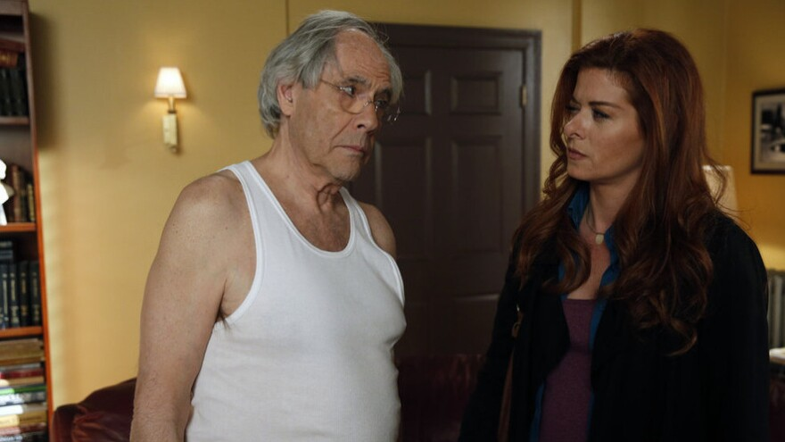 Debra Messing stars with Robert Klein in NBC's <em>The Mysteries of Laura</em>.