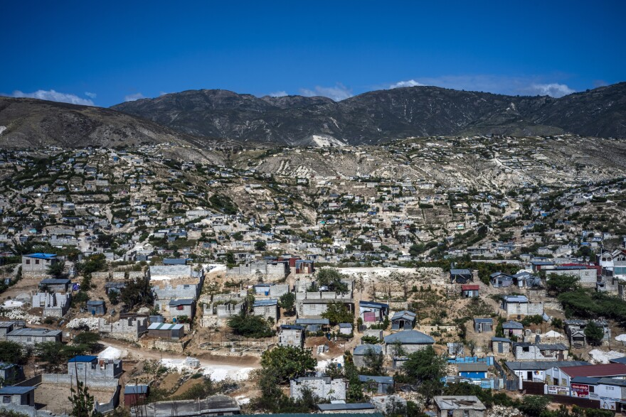 Canaan is a slum north of Port-au-Prince inhabited by displaced earthquake survivors. The sprawling array of concrete homes and wooden shacks is home to more than a quarter of a million people.