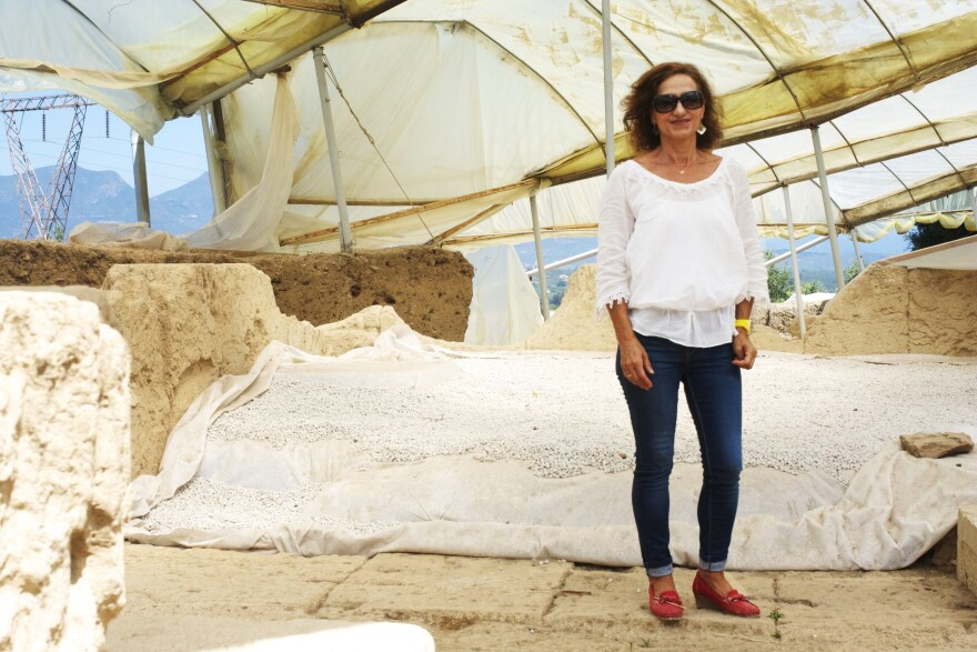 Archaeologist Xeni Arapogianni made an important discovery at Ancient Thouria, a city-state referenced by Homer and located near the southern city of Kalamata. But, facing austerity budget cuts, she is struggling to finance her work.