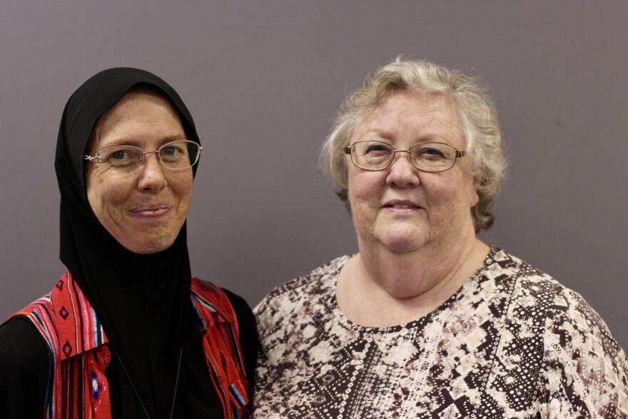 Judy Atlagh (l) and Betty Ann Borders (r)