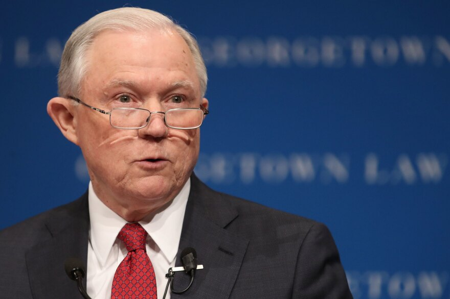 "Attorney General Jeff Sessions said in an address at the Georgetown University Law Center: ""Freedom of thought and speech on the American campus are under attack."""
