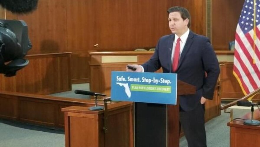 DeSantis wants schools to offer students the option to return to school five days a week starting in August if conditions allow it.