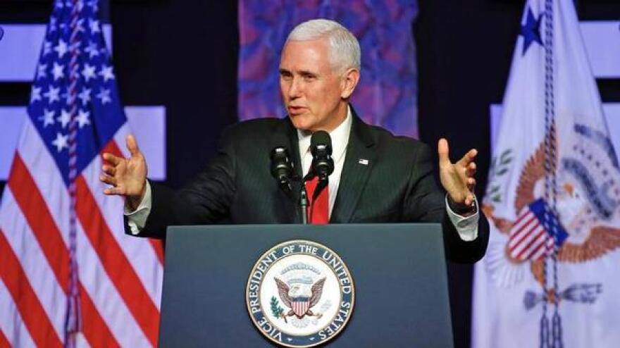 Vice President Mike Pence during a previous visit to Florida.