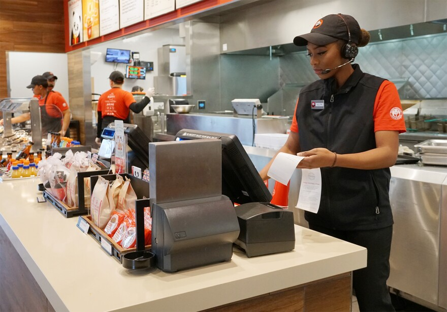 Ngone sometimes works as many as 60 hours a week at Panda Express.