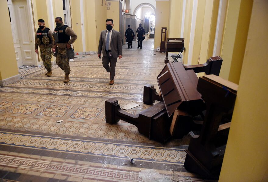 Rioters damaged the U.S. Capitol building after they breached security and entered the building during a session of Congress on Wednesday.
