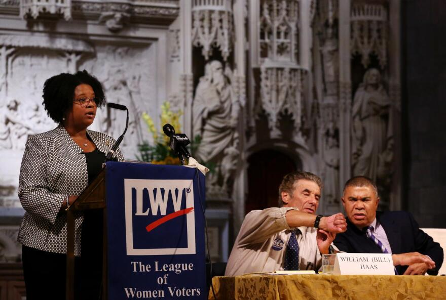 Sen. Maria Chappelle-Nadal, D-University City, speaks during a 2016 candidate forum for candidates in the 1st Congressional District.