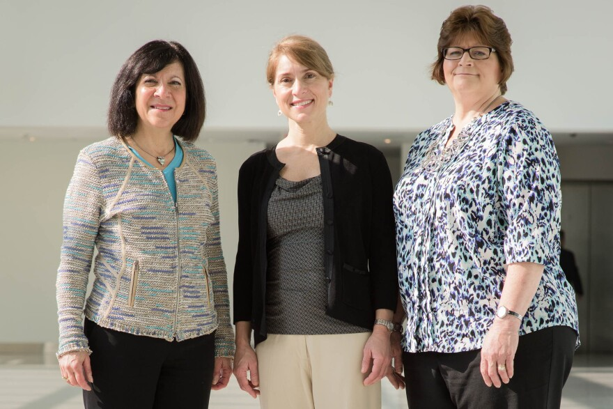 Nancy Albert, Kate Klein and Nancy Kaser collaborated on a study of early mobility for patients with brain injuries.