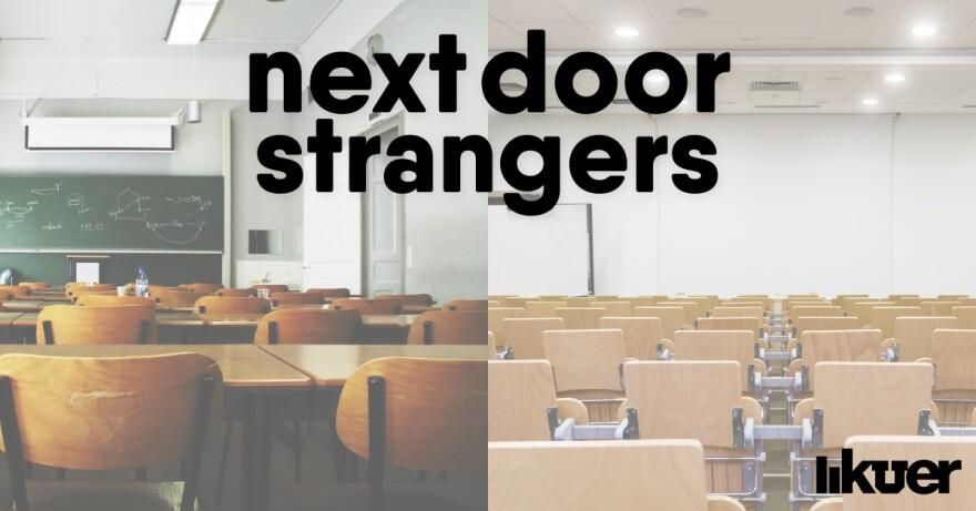 Next Door Strangers Logo.
