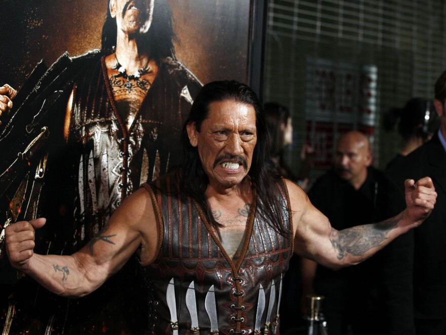 Danny Trejo, shown here at the premiere of the 2010 film <em>Machete</em>, is famous for playing macho roughs. But in real life, Trejo is dedicated to helping others: He became a drug counselor after he got out of prison, and he still works for a rehab center as director of patient relations.