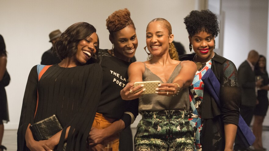 Sisters Are Doing It For Themselfies: Molly (Yvonne Orji), Issa (Issa Rae), Tiffany (Amanda Seales) and Kelli (Natasha Rothwell) in HBO's <em>Insecure</em>.