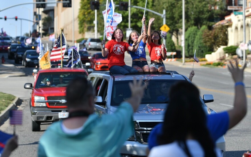 092620_CM_TrumpRally_Parade_Late_YoungWomen.jpeg