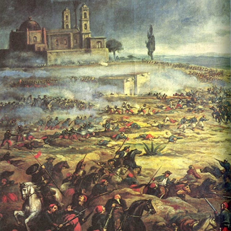 During the battle, French forces outnumbered the Mexicans two to one.