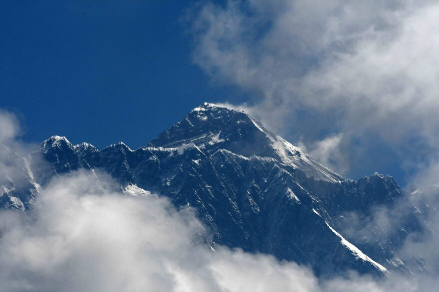 Mount Everest (height 8848 metres) is seen in the Everest region, some 140 km northeast of Kathmandu, on May 27, 2019. (Prakash Nathema/AFP/Getty Images)
