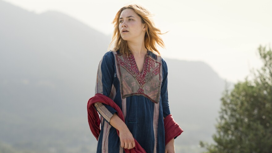 Florence Pugh plays an actress who attempts to infiltrate a terrorist cell in the new AMC miniseries <em>The Little Drummer Girl.</em>