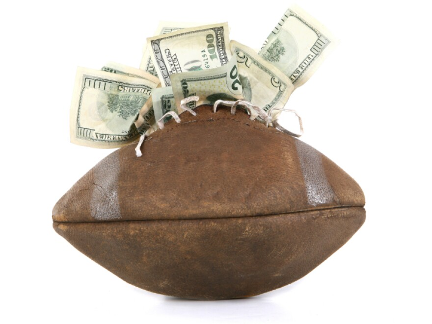 <p>Despite the popularity of college football, according to Frank Deford, only 14 athletic departments show a profit. Why? Because football has to cover the costs of the college sports that lose money. </p>