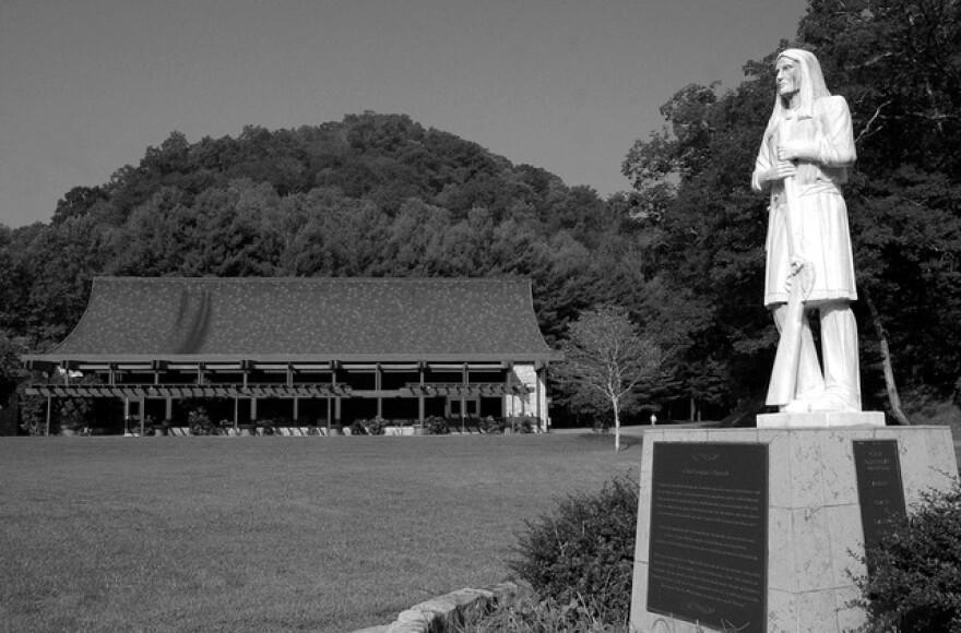 Chief Logan Statue at Chief Logan State Park.