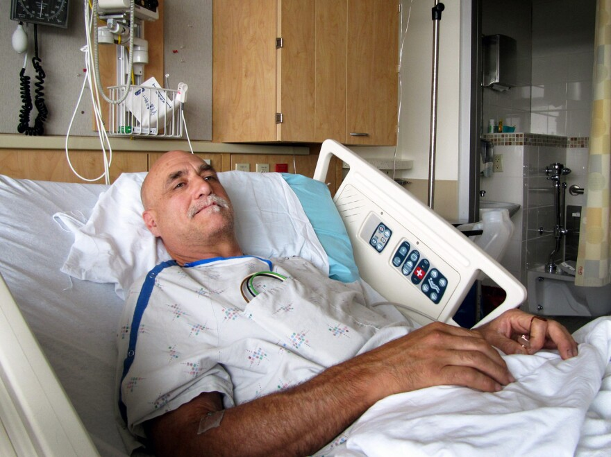 David Chance recuperates at Oregon Health and Science University.