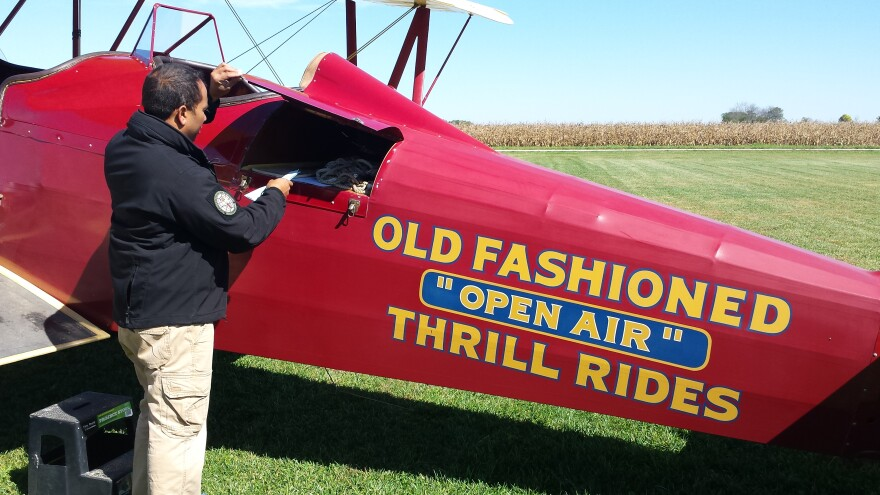 Dewey Davenport is a pilot with a passion for history