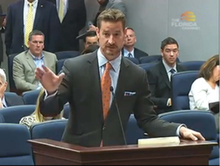 Rep. Steube (R-Sarasota) explaining his bill to the House Business and Professions subcommittee.