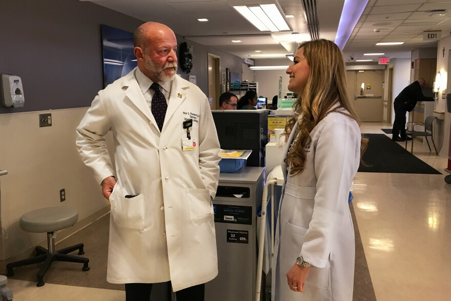 Dr. Mark Rosenberg (left) and LaPietra led the shift away from using opioids as the first line of offense against pain in the emergency room at St. Joseph's.