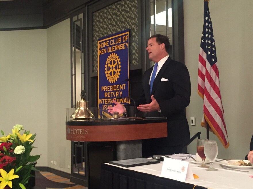 Sen. Aaron Bean (R-Fernandina Beach) told a group of Jacksonville Rotarians he doesn't expect Medicaid expansion to be a factor during the 2016 legislative session.