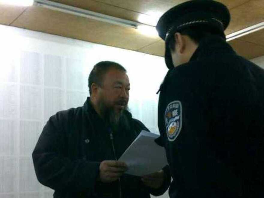 Ai Weiwei was visited by police three days before he was detained.