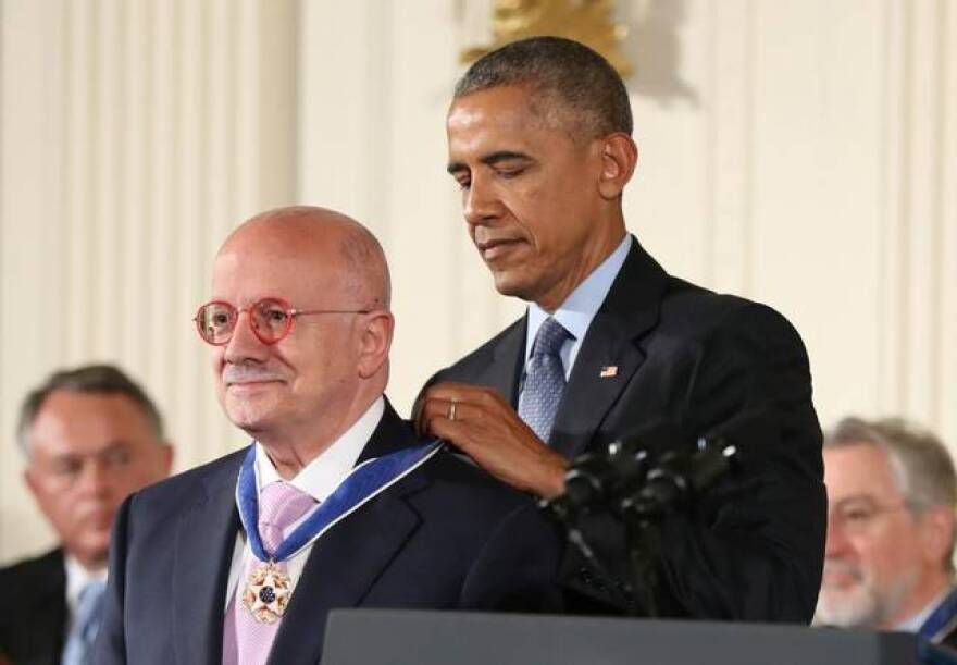 "President Barack Obama awarded Eduardo Padrón a Presidential Medal of Freedom during a ceremony at the White House. ""He is one of the world's preeminent education leaders."" said Obama."
