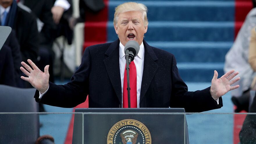 <strong></strong>President Trump's address to a joint session of Congress on Tuesday night is expected to strike a more optimistic tone than his inaugural address did last month.
