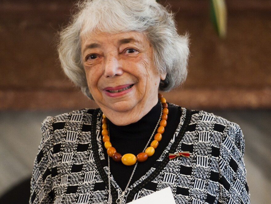 """""""As a survivor, I feel that I do something for the people who cannot speak for themselves anymore,"""" says Margot Friedlander, shown here in 2011."""