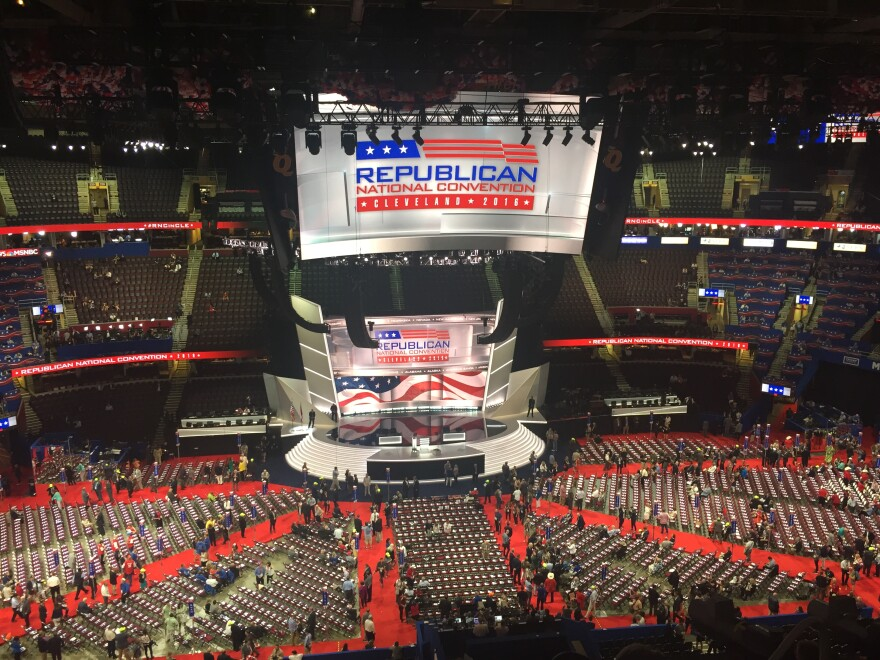 A photo of the RNC stage.