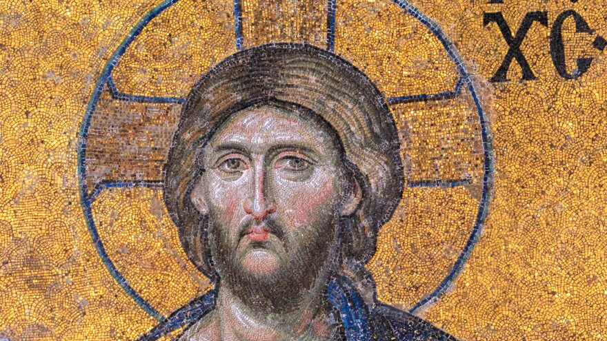 Jesus is depicted in a wall mosaic inside Istanbul's Hagia Sophia, which served as an Eastern Orthodox cathedral from A.D. 537 until 1453.