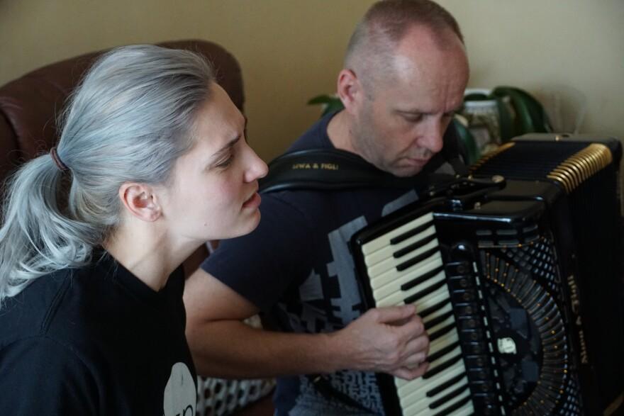 Maja Sadikovic and Edo Sadikovic perform the Bosnian folk music known as sevdah. Maja learned the style from her father. 8/9/18