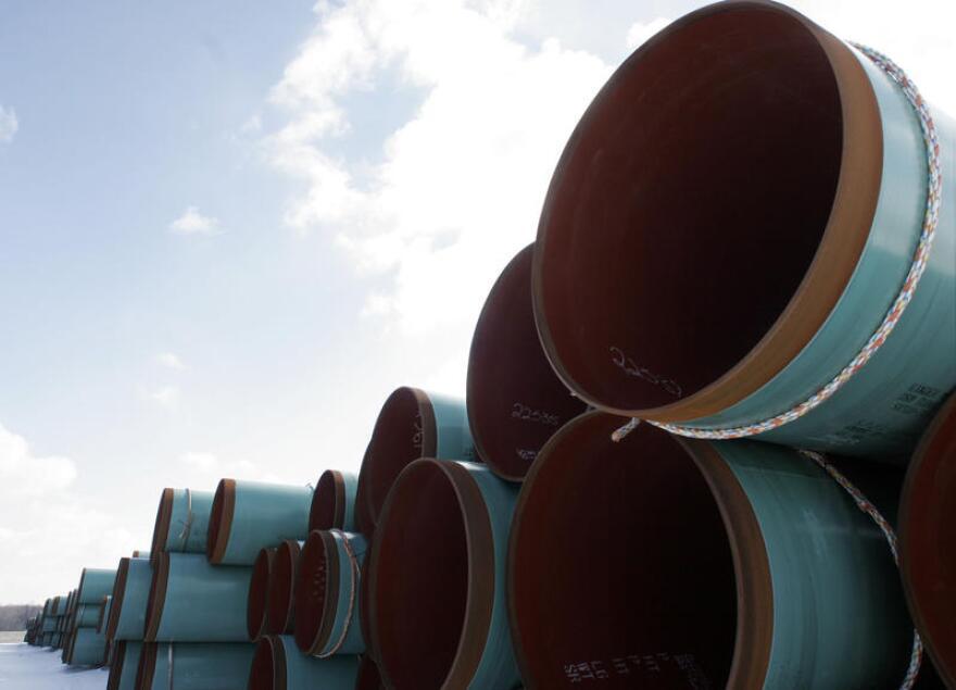 Pipeline awaits construction.