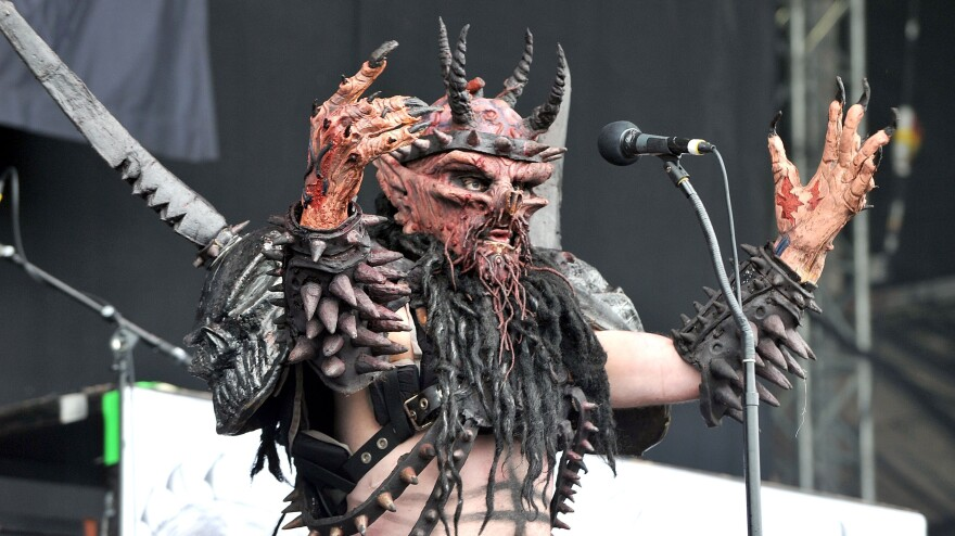 Oderus Urungus and GWAR perform at the Download Festival in Castle Donington, England, in 2011.