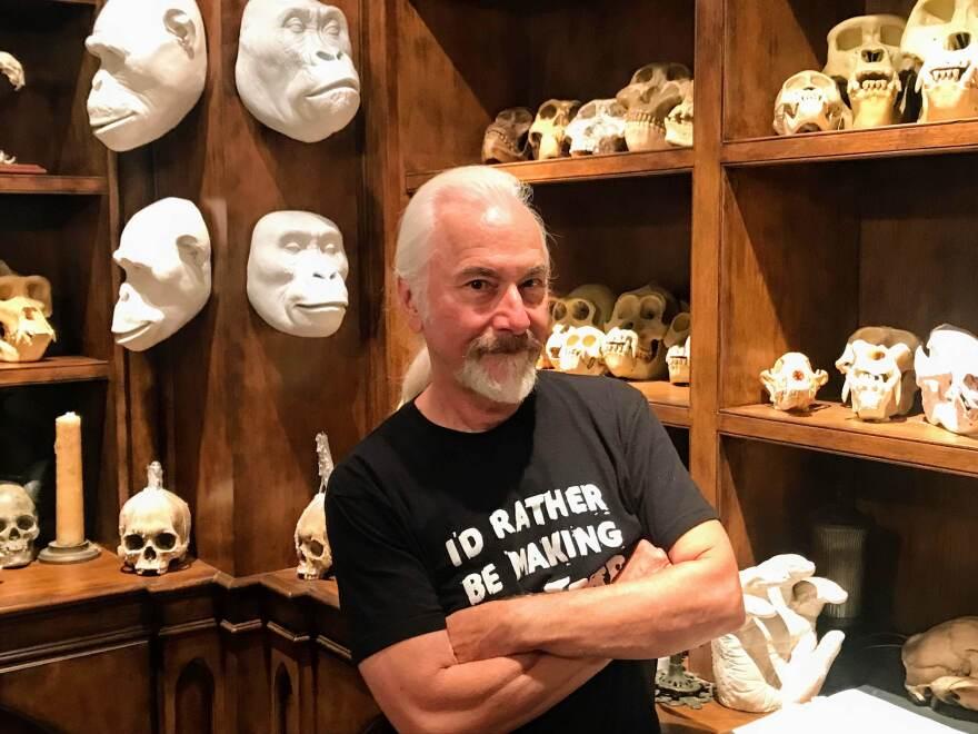 Rick Baker poses at his studio.
