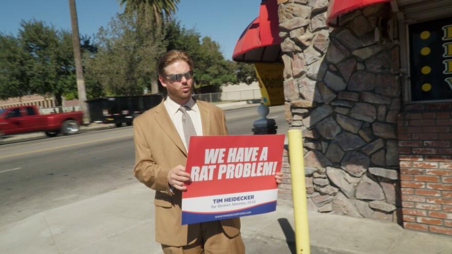 Eric Notarnicola's mockumentary <em>Mister America</em> follows Tim Heidecker attempts to win over San Bernadino voters despite limited funding and a murder allegation.