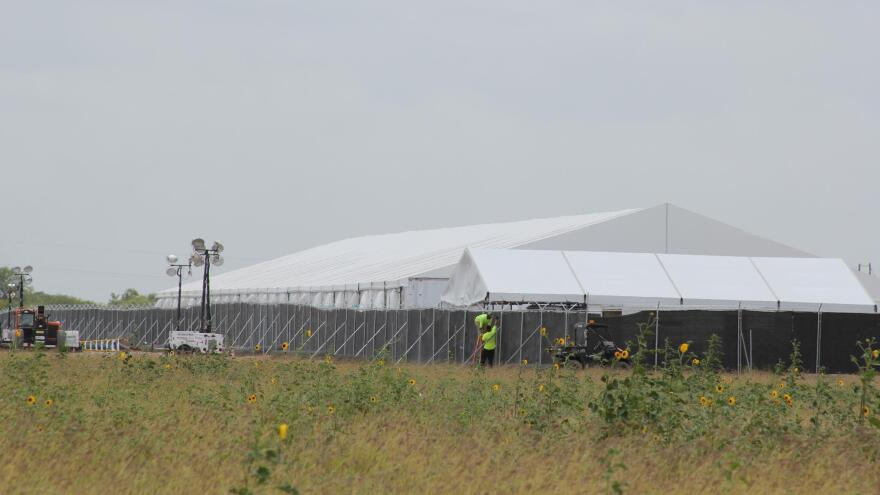 The migrant facility in Donna, Texas, was constructed in 13 days.