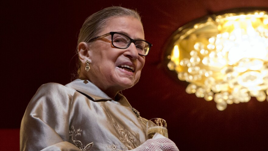 Supreme Court Justice Ruth Bader Ginsburg attends the 2015 Kennedy Center Honors in Washington on Dec. 6, 2015.
