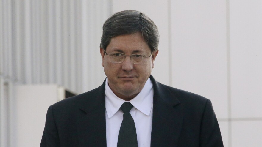Polygamous sect leader Lyle Jeffs leaves the federal courthouse in Salt Lake City in January 2015.