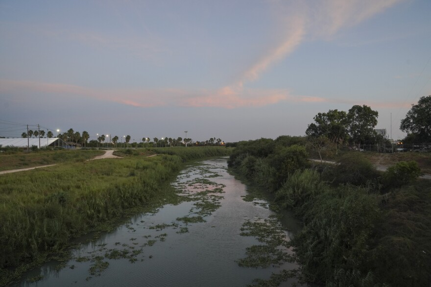 The Rio Grande as seen from the Gateway International Bridge in Matamoros, Mexico in 2019. A mother and her four daughters from Honduras crossed the river nearly three years ago to seek asylum. The daughters were released from a federally-funded shelter and placed with their father in Virginia. Their mother is currently in a shelter in Honduras.