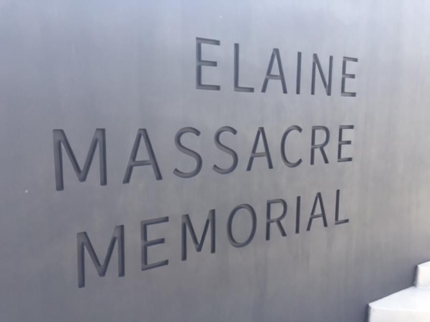 The Elaine Massacre Memorial in Helena-West Helena.