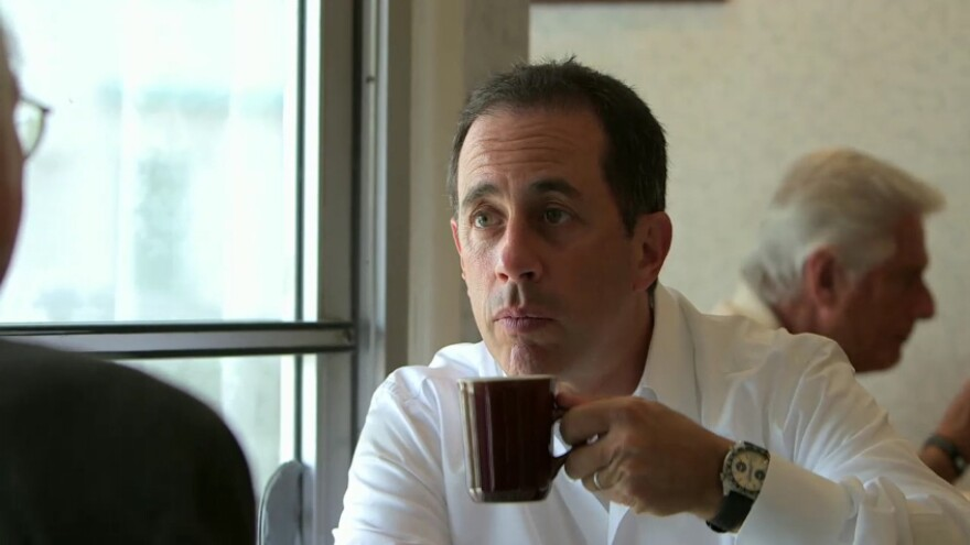 """In an episode of <em>Comedians In Cars Getting Coffee</em> called """"Larry Eats A Pancake,"""" Jerry Seinfeld has coffee with Larry David."""