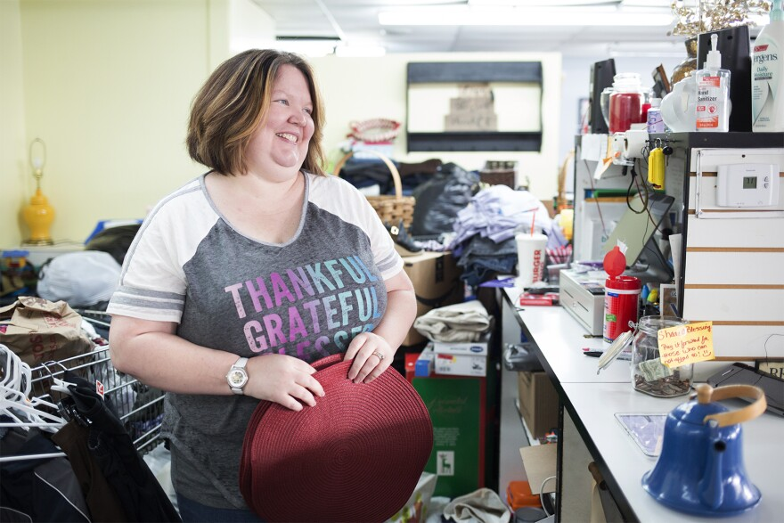 Christa Funderburk opened Blessed Threads Thrift Shop and Resource Center to help people in Granite City.
