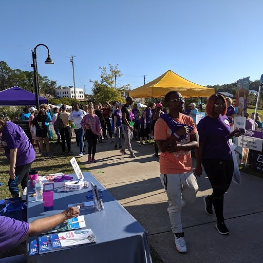 Hundreds of people took part in the Tallahassee Walk to End Alzheimer's.